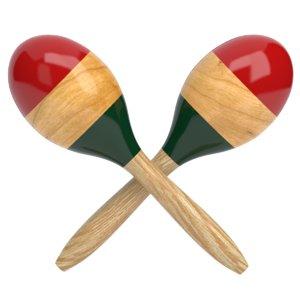 3D wooden maraca