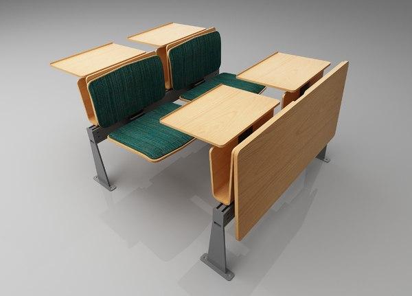 universities college student desk 3D