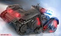 sci fi army tank 3D