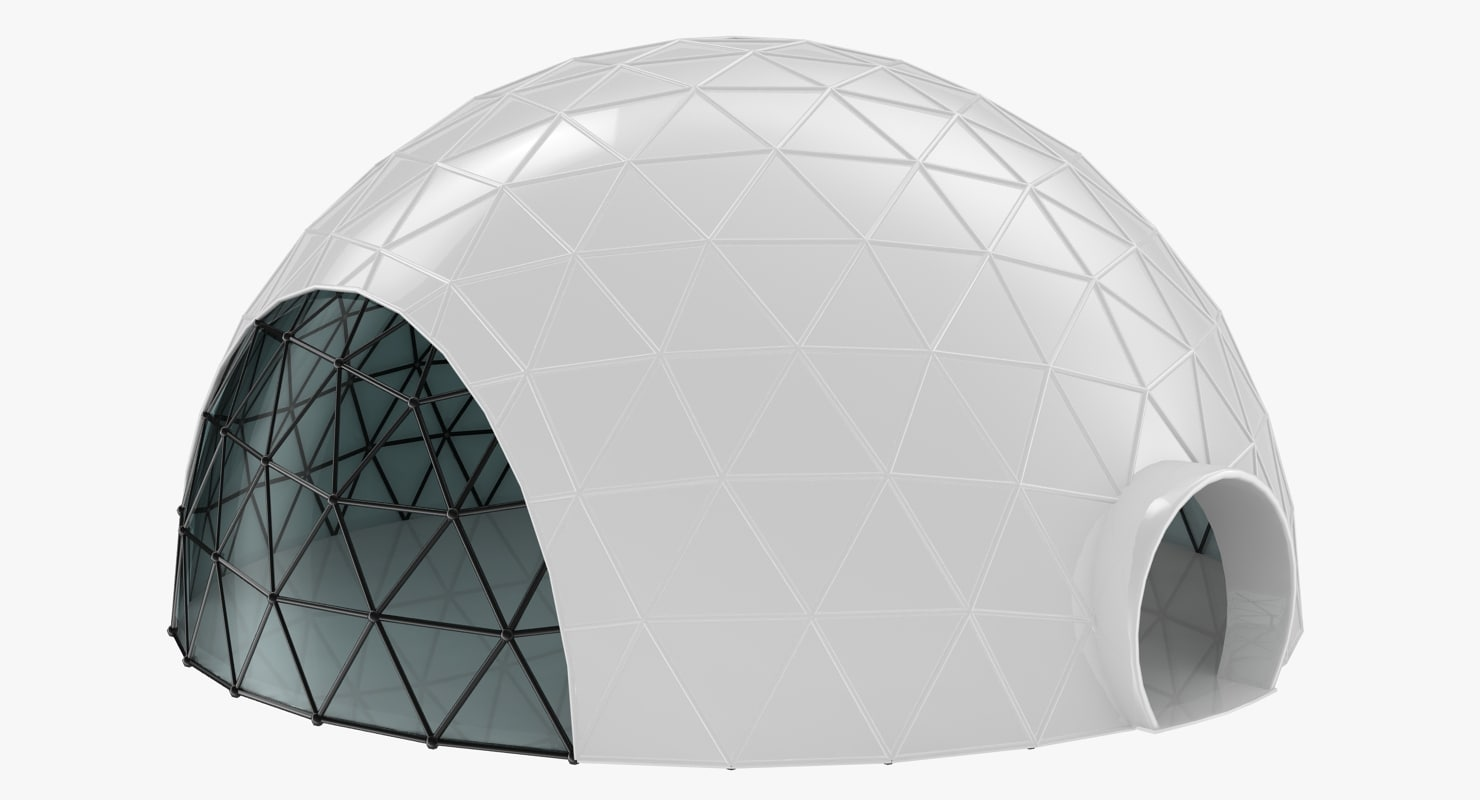 realistic geodesic dome model