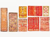 old vintage carpets moroccan 3D model