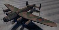 3D plane avro lancaster b model