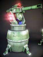 3D robot garand launcher model