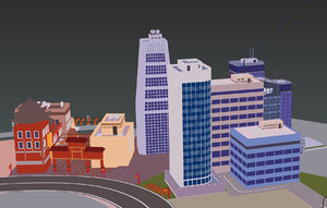 building cartoon 3D model