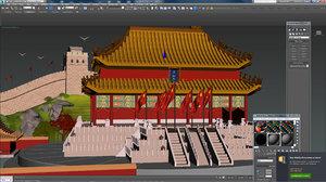 china forbidden city model
