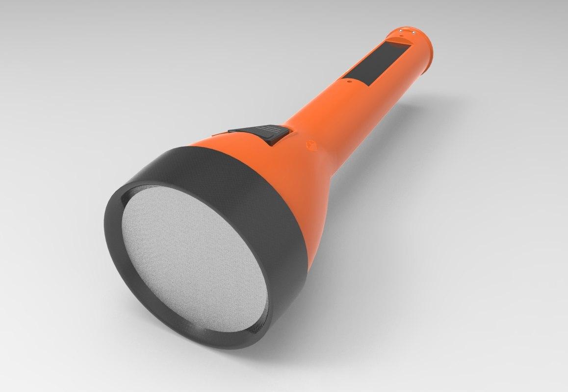 3D orange flash light