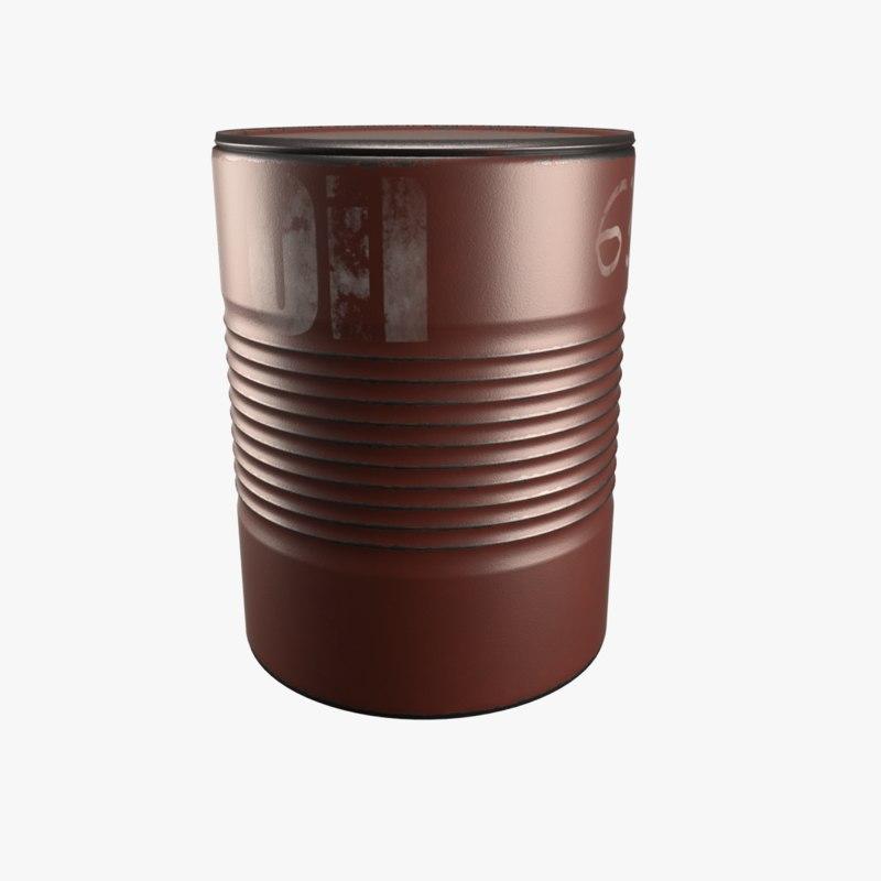3D model steel barrel
