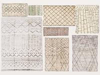 3D model old vintage carpets moroccan
