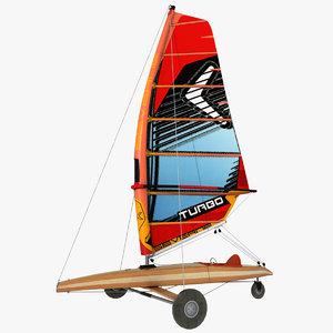 3D sand yacht model