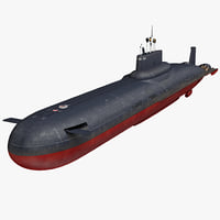 typhoon class submarine project 3D model