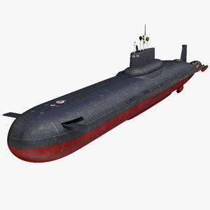 typhoon class submarine project 3D model