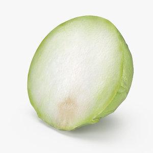 turnip cabbage kohlrabi half 3D model