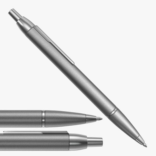 3D steel ballpoint pen