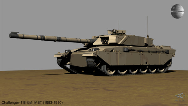 british challenger 1 battle tank 3D model
