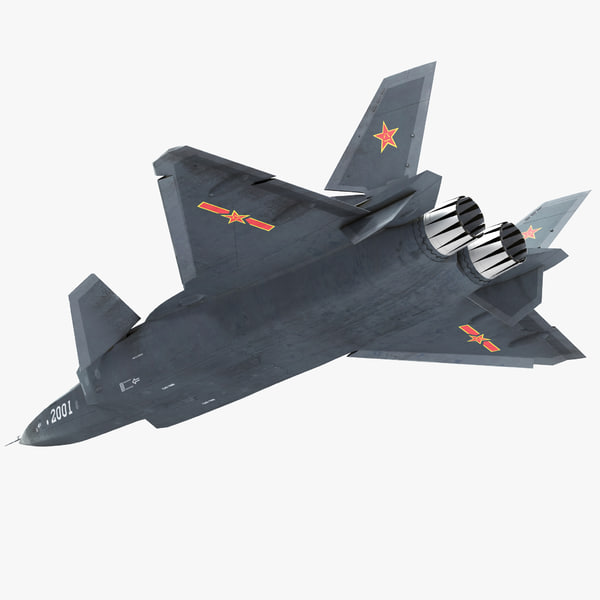 stealth chengdu j-20 rigged 3D model