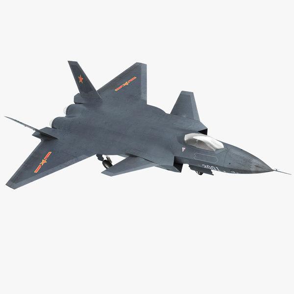 stealth chengdu j-20 3D model