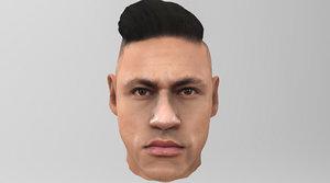 3D head neymar model