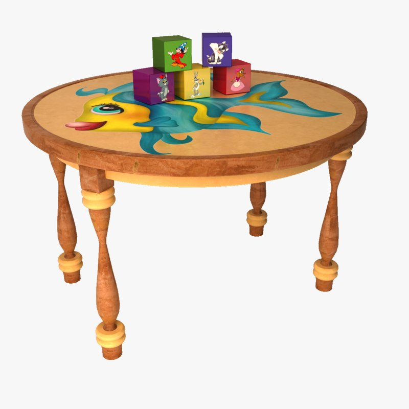 3D children s table