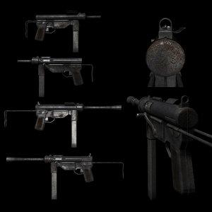 m3a1 grease gun 3D
