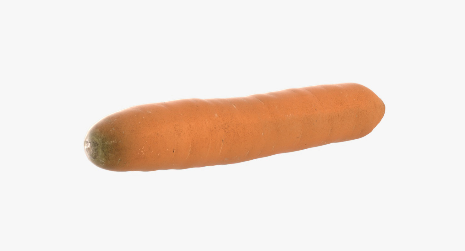 3D realistic carrot