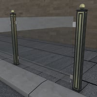 3D model railing glass