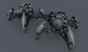 3D spider tank m-04