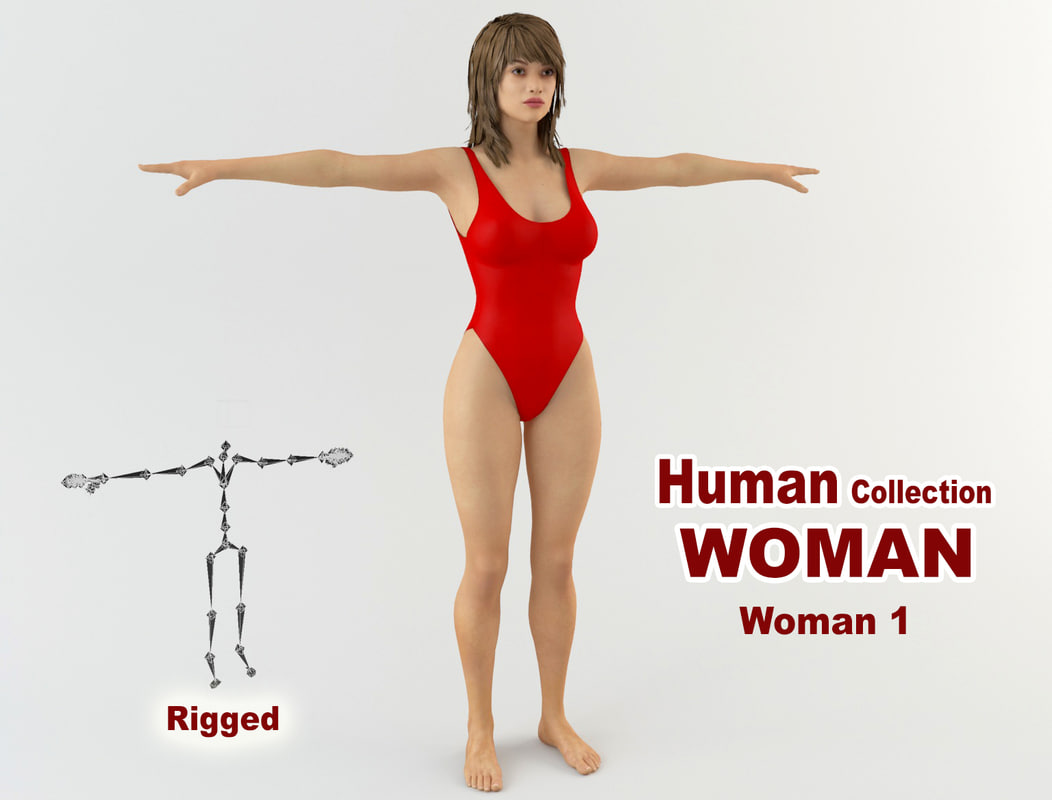 sexy young woman 3D model