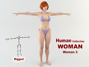 3D sexy young woman model