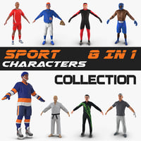 Sport Characters 3D Models Collection