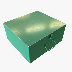 green metal box 3D