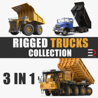 3D big trucks rigged