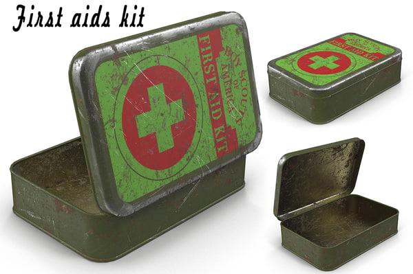 aids kit 3D model
