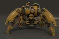 spider tank m-04 yellow 3D