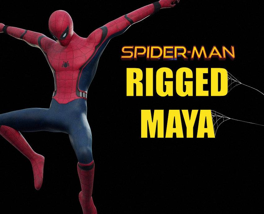 spider-man rigged 3D model
