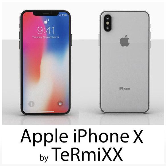 iphone x phone 3D model