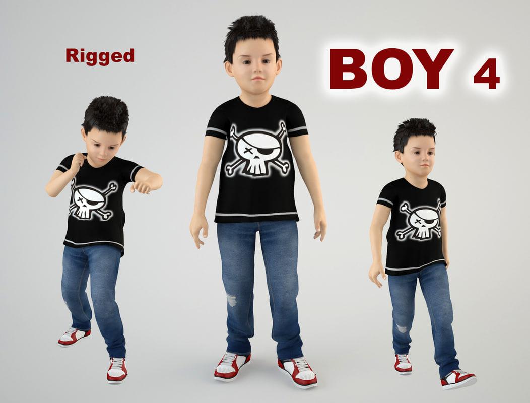 child boy 3D
