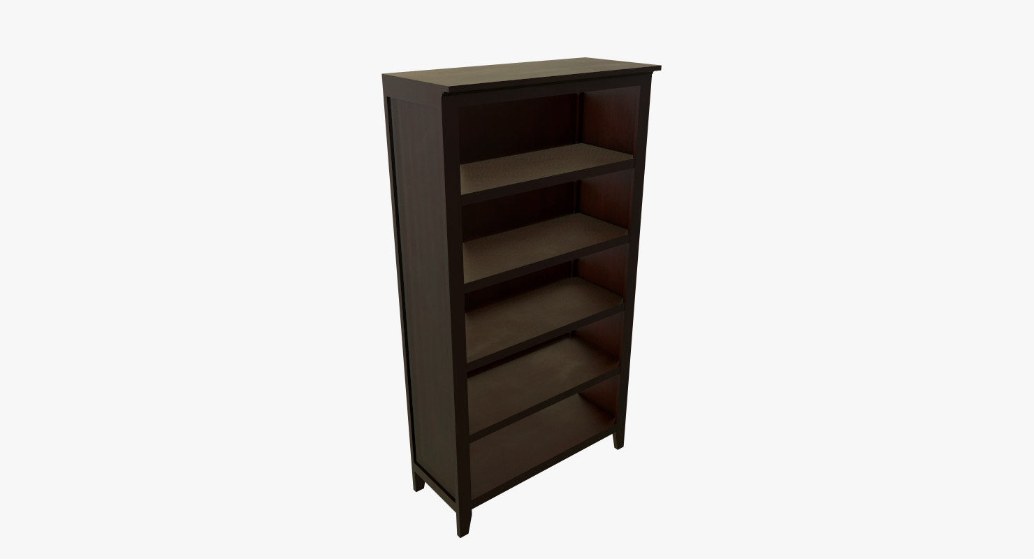 wooden shelves model