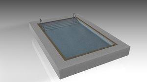 swimming pool swimm 3D model