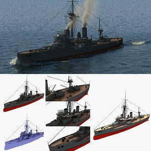 hms dreadnought 3D
