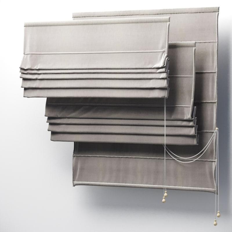 3D roman curtains