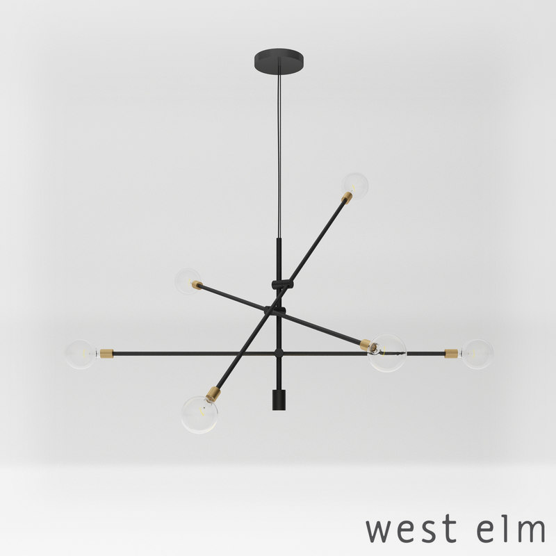 West Elm Mobile Chandelier 3d Model