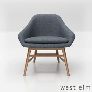 west elm mylo chair 3D model