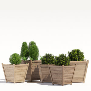 pots tapered liz frances 3D