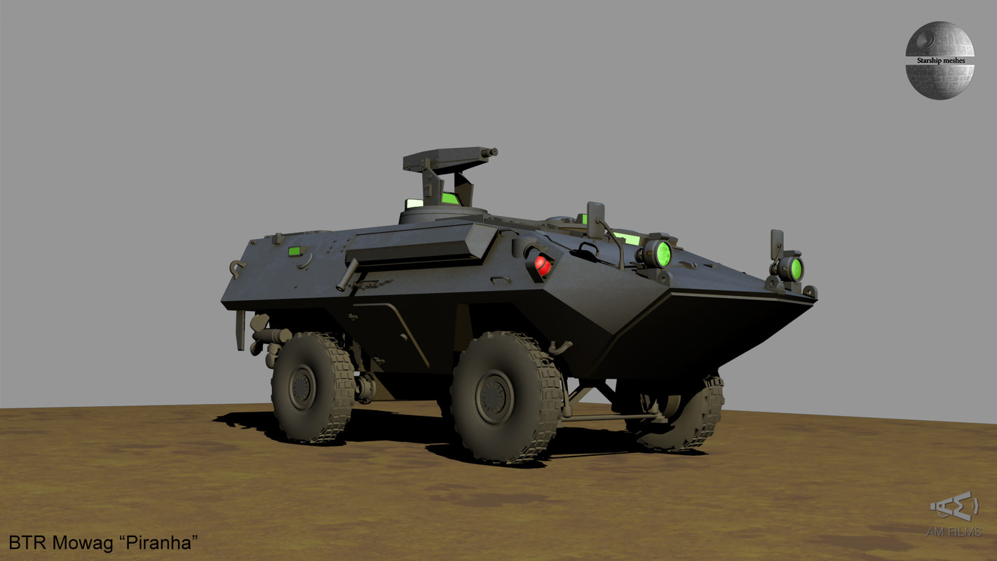 btr womag piranha 3D model