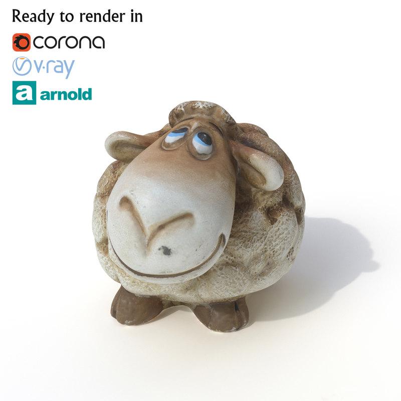 sheep photogrammetry arnold 3D model