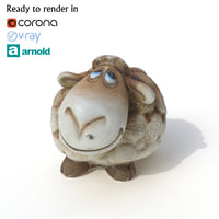 sheep photogrammetry arnold 3D model