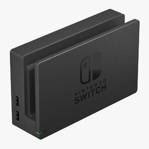 3D model nintendo switch dock