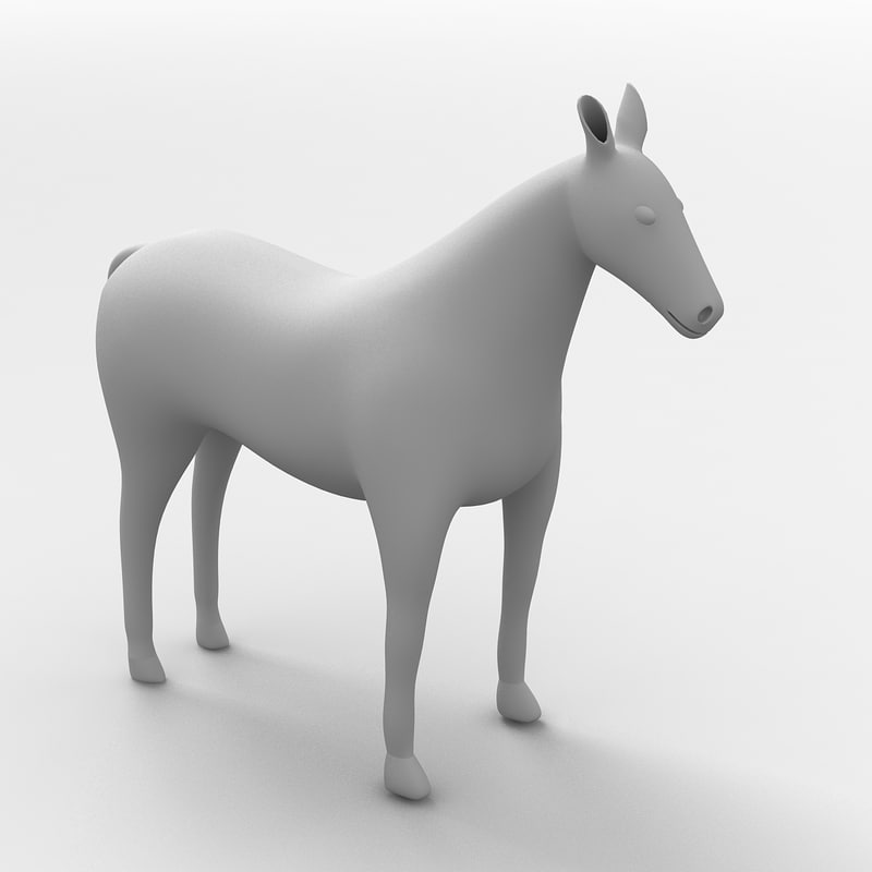 horse modeled ready 3D
