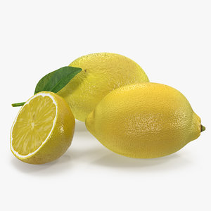 3D lemon