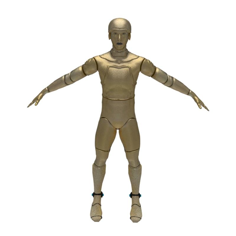 3D android modelers model